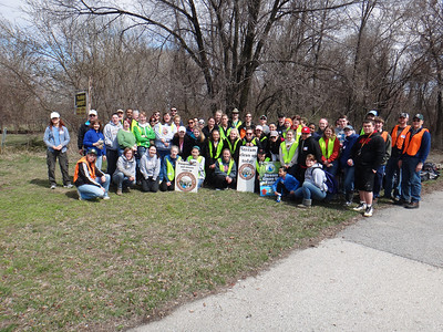 """4.5.14 Patapsco River Watershed off Belle Grove Road in Brooklyn as part of """"Project Clean Stream"""" in Patapsco State Park land"""