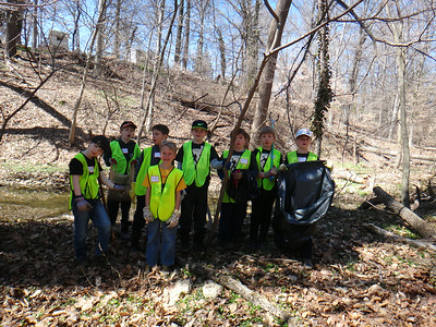 4.7.14 Invasives Removal/Stream Cleanup along Sawmill Branch off Frederick Road in Catonsville Historical Society Property