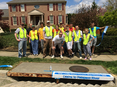 5.3.14 - Storm Drain Stenciling Project in Tiber Branch of Ellicott City