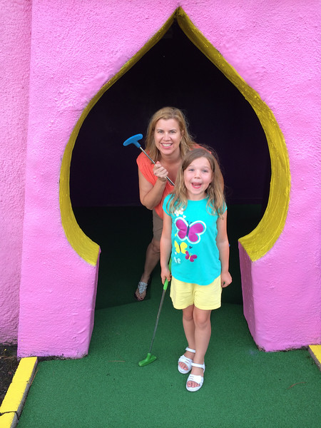 At the Putt-Putt Castle