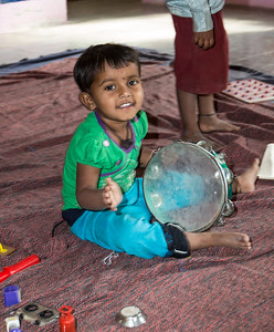 Child playing in Sherevasti-Anganwadi.
