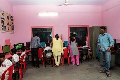 The John Deere Computer Lab at the Zilha Parishad Primary School in Sanaswadi.