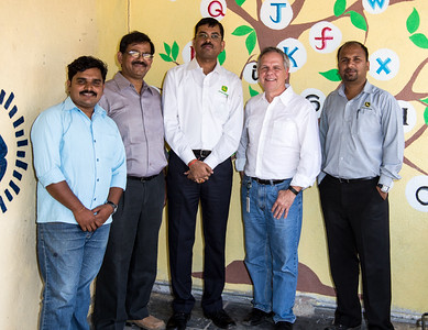 I had a great day with Arun and Ravi of John Deere foundation and Ranjeet of Global Communities. Here we are at the play area in Sherevasti-Anganwadi.