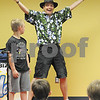"Ryan Gaines for Shaw Media<br /> At the Sycamore Public Libraries summer reading program kick-off event, entertainer  Jim Cruise, a.k.a. ""Spoon Man"" performed on Saturday, June 7, 2014 at the library.  Chance Butz, 7, volunteered for one of the portions of the show."