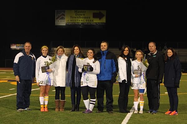 02.02.15 Varsity Girls Soccer Senior Night