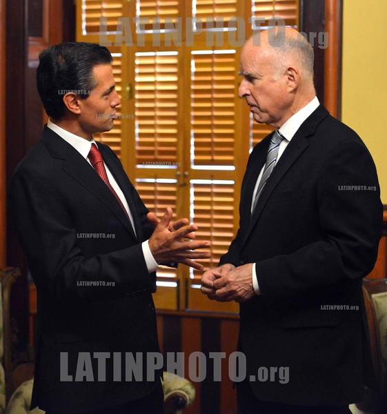 Mexico : Presidente Enrique Peña Nieto y el Gobernador de California, Edmund G. Brown / Mexiko: Besuch des mexikanischen Präsidenten  Enrique Peña Nieto bei Gouverneur Edmund G. Brown in Kalifornien © PRESIDENCIA DE LA REPÚBLICA/LATINPHOTO.org