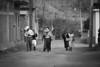 Mexico - San Mateo Macuilxochitl - Oaxaca : En esta comunidad Zapoteca conservan la tradición que cada dia 3 de Mayo , la comunidad sube al cerro para hacer cantos y bailes celebrando el dia de la Santa Cruz y pidiendo a los dioses por una buena temporada de lluvia y cosecha / Mexiko : Strassenszene in  San Mateo Macuilxochitl © Carlo Echegoyen/LATINPHOTO.org (B/W)