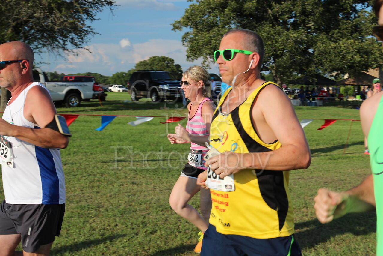 Monica Ames running the 5K Milk Run