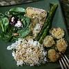 Apr 22, 2015  Dinner . . . Spinach Salad, Salmon, Asparagus, zucchini, rice