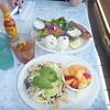 Apr 19, 2015  Huevos Rancheros and Salmon plate for brunch at Shoreline Cafe