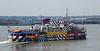 Sir Peter Blake dazzle paint on Snowdrop Mersey ferry