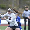 J.S.CARRAS - JCARRAS@DIGITALFIRSTMEDIA.COM    Shaker against Saratoga during first half of high school girls lacrosse action Tuesday, April 7, 2015 at Skidmore's Wachenheim Field in Saratoga Springs, N.Y..