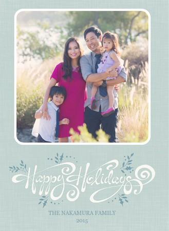 "Juniper Holiday Vertical - Shown in ""Blue-Green"""