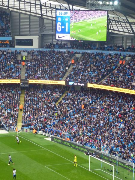 Etihad Stadium, Manchester City 6 Newcastle 1 on Saturday 3rd October 2015