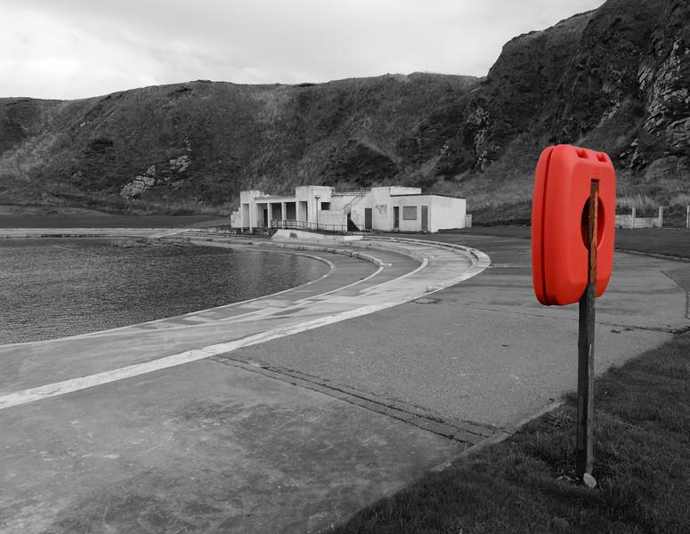 Abandoned open air swimming pool at Tarlair, Macduff on Monday 12th October 2015