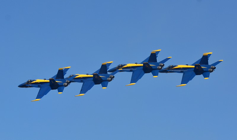 All aboard!  The Blue Angels Express!