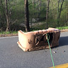 4/29/2015 Jon Merryman, Patapsco River, AA county, Race Road south of Hanover Rd, a sofa, aquarium and random junk.  <br /> This is the second photo that shows the sofa hauled up the hill side.  Estimated weight 150 pounds.  Weight recorded in previous picture.