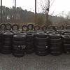 12/24/2014 Jon Merryman, Old Stoney Run Rd, found 346 truck and car tires stacked by road.  Estimated 8820 pounds.
