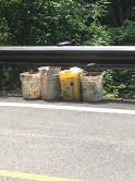 6/26/2015, Melissa Gaigler, Bonnie Branch, Ellicott City, Howard County, along River Road, cleaned up liter and trash and placed it in 4 found contractor buckets for pick up.  Estimated weight 125 pounds.