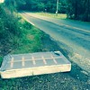9/1/2015 Jon Merryman, Stoney Run A.A. county, someone dumped a box spring on Ridge Road sometime last night. It's near 7031 Ridge Rd.  Estimated weight 60 pounds.
