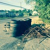 8/26/2015, Jon Merryman, Patapsco River Watershed, Anne Arundel County, Belle Grove Rd at Thomas Ave, 55 tires dumped recently.  Estimated weight 1,100 pounds.