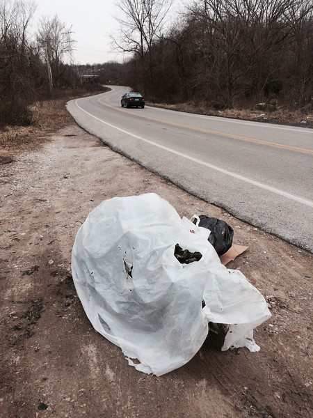 2/2/2015, Jon Merryman, Patapsco River Watershed, Baltimore County, Hammonds Ferry Rd,.  Pic 2 of 2, Estimated weight of trash 25 pounds.