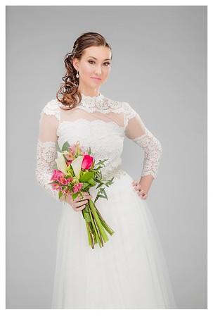 Sarah Urich models alternative wedding looks in the studio Tuesday, Jan. 6, 2015.