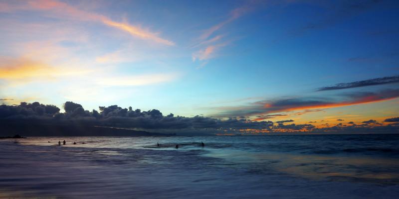 01-01 Sunset from H A  Baldwin Park @ Maui, Hawaii