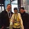 Jen's sister after Boston Marathon