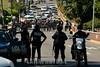 """MEXICO - OAXACA 15 de enero de 2015.- Jóvenes encapuchados marcharon este jueves de la carretera federal 190 a la altura del bulevar Eduardo Vasconcelos hacia la Penitenciaría Central de Oaxaca en Ixcotel, en respaldo a los normalistas de Ayotzinapa. Durante su trayecto realizaron pintas y gritaron consignas para exigir la presentación con vida de los estudiantes de la normal rural 'Raúl Isidro Burgos' de Ayotzinapa, desaparecidos en Iguala Guerrero el 26 de septiembre de 2014. Los jóvenes vestidos de negro también realizaron pintas en la 28ava zona militar. Al frente portaron una manta de color negro con el texto """"La vía electoral fracaso, Organización Autónoma Autogestiva / Masked youths rampage on 15.01.2015 in the center of Oaxaca / Mexiko : Vermummte Jugendliche randalieren am 15.01.2015 im Zentrum in Oaxaca © Jorge Luis Plata/LATINPHOTO.org"""