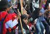 Mexico - Oaxaca 18/08/2015 Activistas de la Asamblea Popular de los Pueblos de Oaxaca ( APPO ) , y Organizaciones No Gubernamentales protestaron en las puertas de la casa oficial del Gobierno del Estado de Oaxaca,  contra la política del jefe del poder ejecutivo Gabino Cué, quién dicen,  quiere llenar de militares el Estado ya que no se han resuelto cientos de asesinatos durante su mandato / Mexiko : Indigene Aktivisten der APPO demonstrieren am 18.08.2015 vor dem Regierungssitz in Oaxaca gegen Gouverneur Gabino Cué Monteagudo © Jorge Luis Plata/LATINPHOTO.org