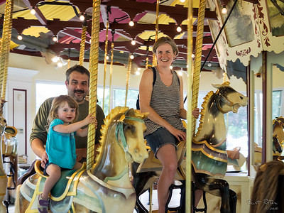 2016 - Billie and Erin on the Merry-Go-Round