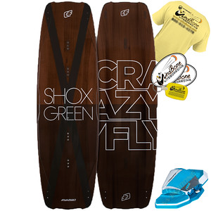 2016 Crazyfly Shox Green Kiteboard