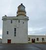 Kinnaird Head Lighthouse constructed in former castle.