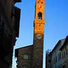 Montalcino, central square at dusk