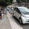 Electric charging station, Vence, with bench for waiters