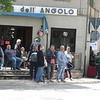 Waiting for the Giro to come through Spello