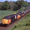 Douglas Johnson collection<br /> <br /> 37713 & 37513 Shatter the peace at Portrack whilst at the head of 6Z91 Tyne Yard to Ayr Falkland Yard MGR working,