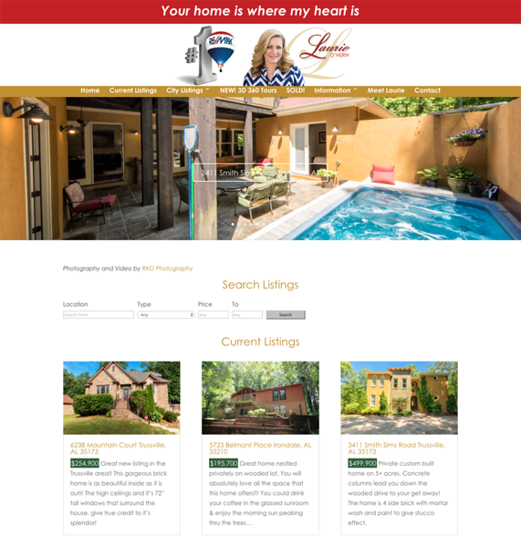 Wordpress-Theme-Laurie-OHern-Birmingham-Alabama-Remax-Real-Estate-jrcustomization