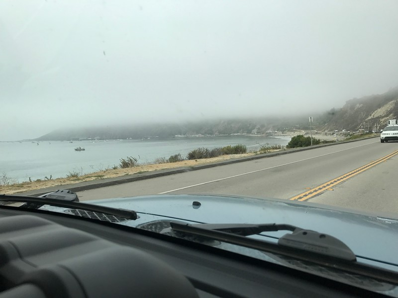 Overcast as we drove to brunch