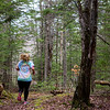 BANGOR, Maine -- 04/29/2017 - A runner competes during the annual Epic Sports' Rabbit Run race through the Bangor City Forest in Bangor Saturday. The 5.25 mile course saw over 100 runners. Proceeds went to benefit the Bangor Humane Society and the Clifton Climbers Association. Ashley L. Conti | BDN