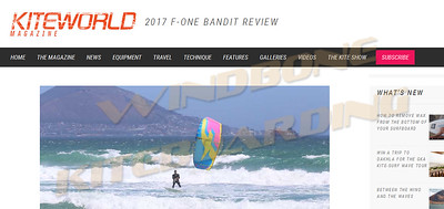 2017 F-One Bandit Review KiteWorld Magazine Review