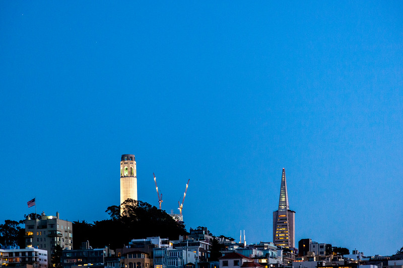 Coit Tower & Transamerica Pyramid, San Francisco