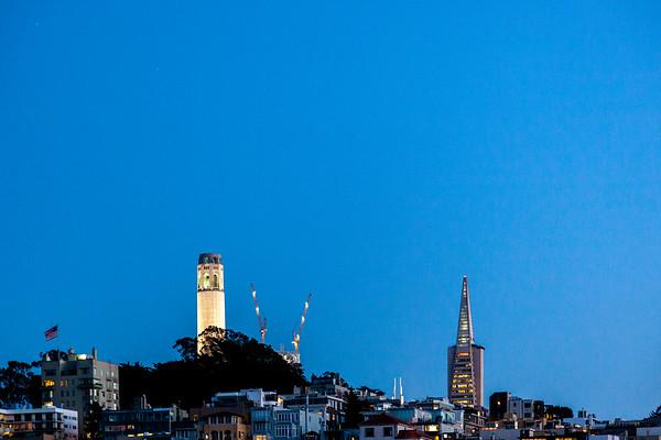 Coit Tower & Transamerica Pyramid, San Francisco