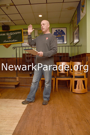 The 2017 Newark St. Patrick's Day Parade Committee members plan parade day details during their meeting in historic McGovern's Tavern in Newark on Jan. 21.