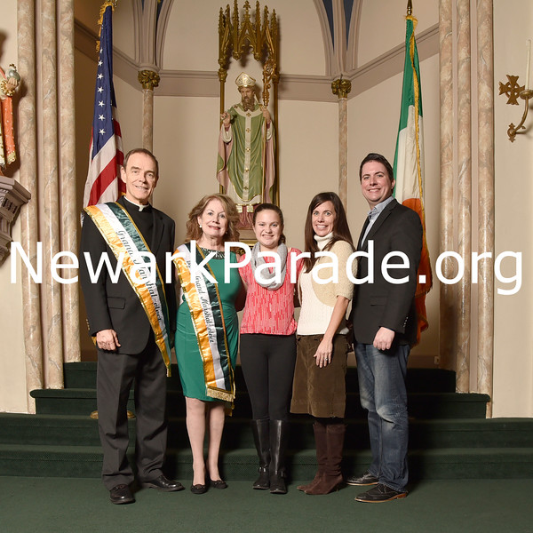 The 2017 Newark St. Patrick's Day Parade Committee members receive their sashes and pose for pictures in Newark's St. Patrick's Pro Cathedral on Jan. 21, planning for parade day, Friday afternoon, March 17.