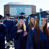 ORONO, Maine -- 05/13/2017 - Graduates make their way to Alfond Arena for the University of Maine's 215th Commencement in Orono Saturday. More than 1,900 students, including 34 doctoral degree candidates, were expected to participate in the two commencement ceremonies. Ashley L. Conti | BDN
