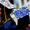 ORONO, Maine -- 05/13/2017 -  Graduates make their way to the stage to receive their diplomas during the University of Maine's 215th Commencement at Alfond Arena in Orono Saturday. More than 1,900 students, including 34 doctoral degree candidates, were expected to participate in the two commencement ceremonies. Ashley L. Conti | BDN