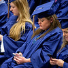 ORONO, Maine -- 05/13/2017 -  Graduates use their phones during the University of Maine's 215th Commencement at Alfond Arena in Orono Saturday. More than 1,900 students, including 34 doctoral degree candidates, were expected to participate in the two commencement ceremonies. Ashley L. Conti | BDN