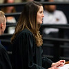 ORONO, Maine -- 05/13/2017 - Abe (left) and Heather Furth give the commencement address during the University of Maine's 215th Commencement at Alfond Arena in Orono Saturday. More than 1,900 students, including 34 doctoral degree candidates, were expected to participate in the two commencement ceremonies. Ashley L. Conti | BDN